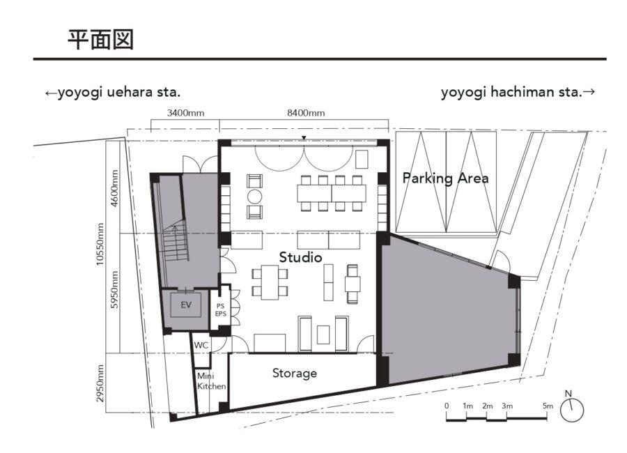 tefu代々木上原レンタルスタジオ_平面図